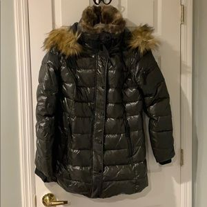 S13 army green down coat